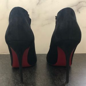 CHRISTIAN LOUBOUTIN LISSE SUEDE BOOTIE